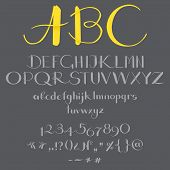 image of symbol punctuation  - The alphabet in calligraphy - JPG