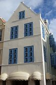 foto of curacao  - Historic Building in downton of Willemstad - JPG