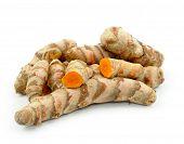 stock photo of rhizomes  - Turmeric roots - JPG