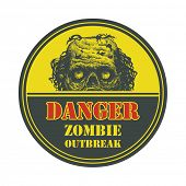 stock photo of zombie  - Poster Zombie Outbreak - JPG