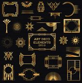 foto of outline  - Art Deco Vintage Frames and Design Elements  - JPG
