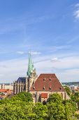 stock photo of dom  - Dom hill of Erfurt Germany in afternoon light - JPG