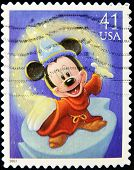 UNITED STATES AMERICA - CIRCA 2004: A stamp printed in USA shows Mickey Mouse circa 2004