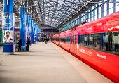 Aeroexpress Trains on the Train station Sheremetyevo