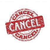 Cancel grunge rubber stamp