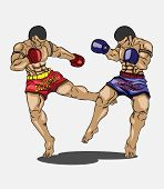 image of muay thai  - Muay thai Vector and illustration - JPG