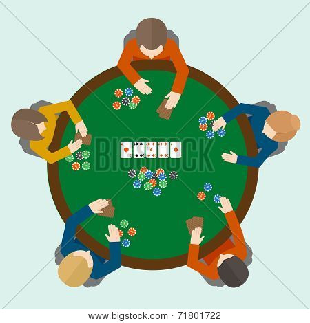 Poker game people