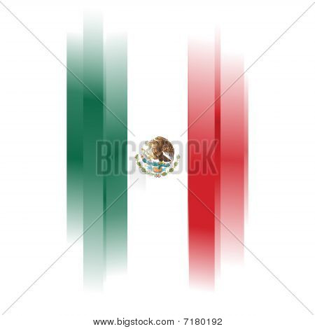 Abstract Flag Of Mexico On White Background