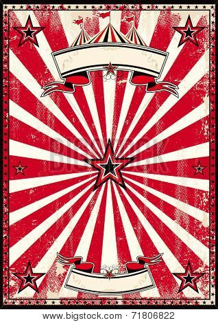 Red circus retro poster.j A red and black vintage circus background for a poster