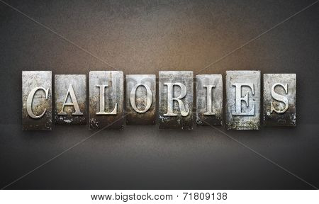 Calories Letterpress