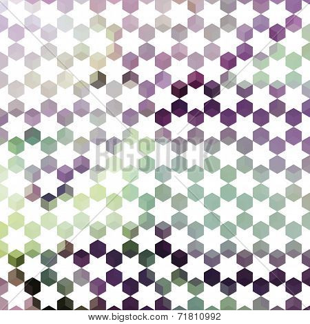 Lavender Pastel Defocused Background With Geometric Ornament With Stars