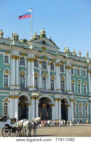 Winter Palace And Hermitage In Saint Petersburg, Russia