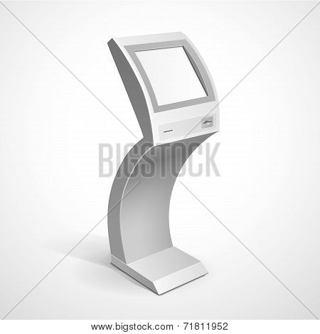 Information Display Monitor Terminal Stand