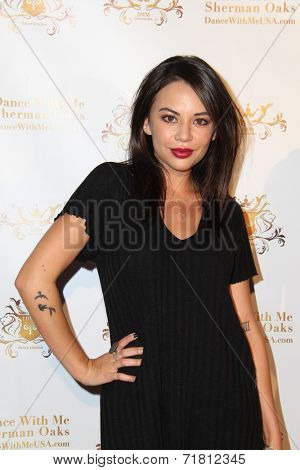 LOS ANGELES - SEP 10:  Janel Parrish at the Dance With Me USA Grand Opening at Dance With Me Studio on September 10, 2014 in Sherman Oaks, CA