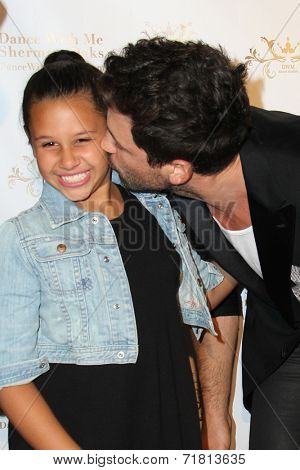 LOS ANGELES - SEP 10:  Sofia Bella Pagan, Maks Chmerkowskiy at the Dance With Me USA Grand Opening at Dance With Me Studio on September 10, 2014 in Sherman Oaks, CA