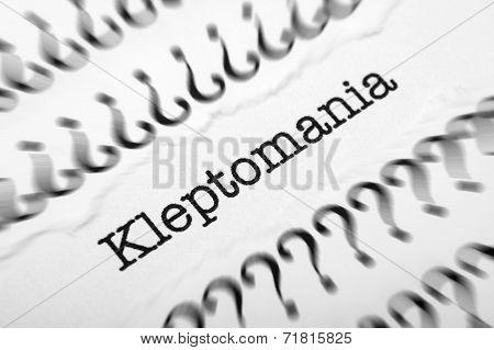 Kleptomania Concept