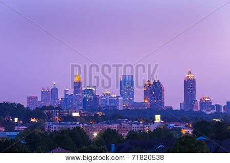 Atlanta Downtown in dusk