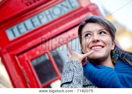 Woman Showing Calling Gesture