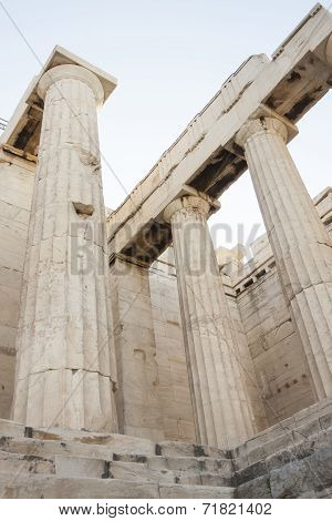 Columns In Temple Of Athena Nike
