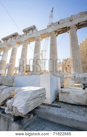 Reconstruction Of Parthenon In Acropolis