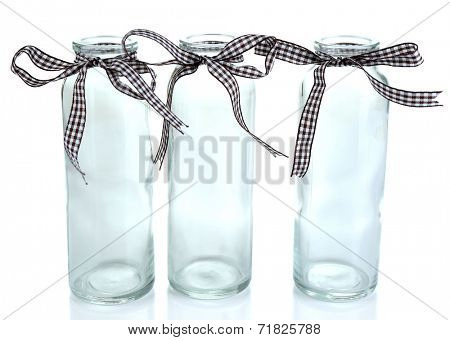 Empty bottles isolated on white