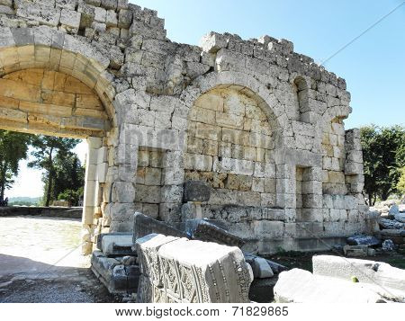 Roman city gate of the ancient Perge 2-3 century.
