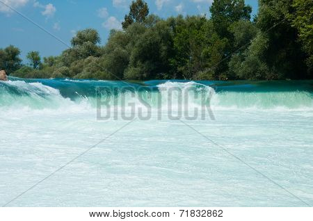 Waterfall On The River Manavgat, Turkey
