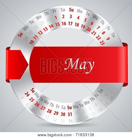 2015 May Calendar Design