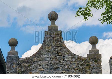 Stone Pediment