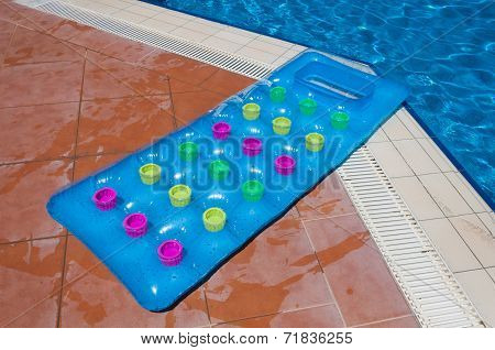Inflatable Mattress In The Pool
