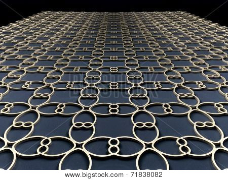 Gold Flower Pattern On The Floor