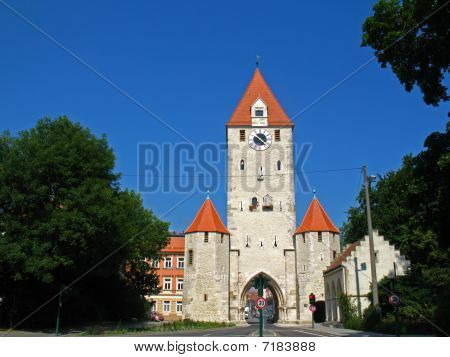 City gate in Regensburg