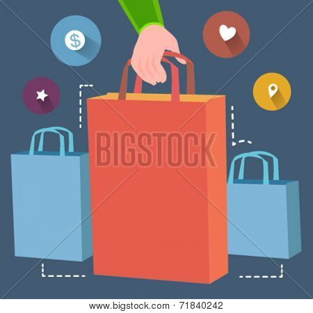 shopping concept  - flat design vector