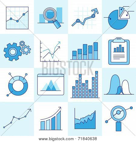 Vector Set Of Business Graphs