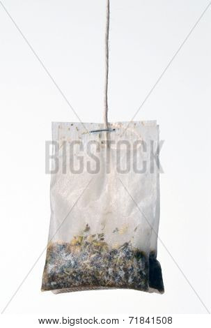 Teabag Isolated on white background.