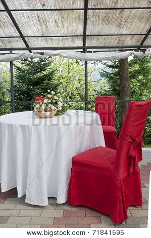 Wedding Table In The Castle
