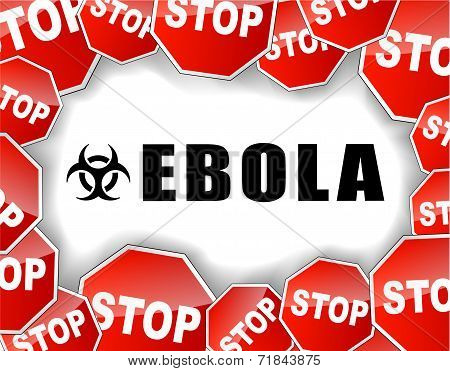 Stop Ebola Virus Illustration