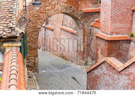 Defense Wall In Sibiu, Romania