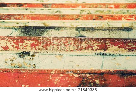 View Of The Colorful Stairs Shriveled