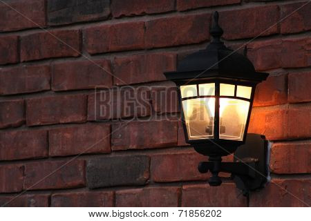 Black Wrought Iron Lamp post
