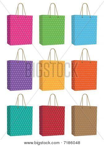 polka dot bags