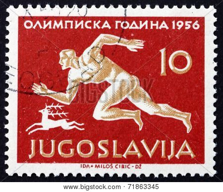 Postage Stamp Yugoslavia 1956 Runner