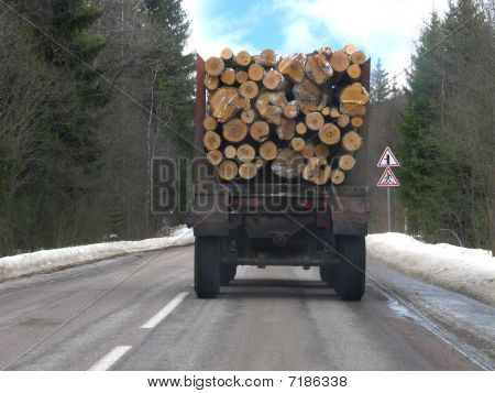 Van With Firewood