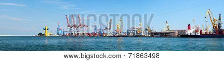 Odessa Seaport Panorama