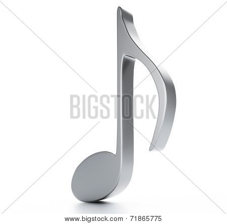 music note 3D. Isolated on white background