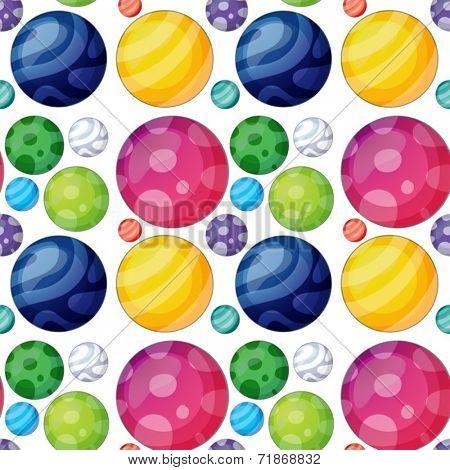 Illustraion of a seamless ball