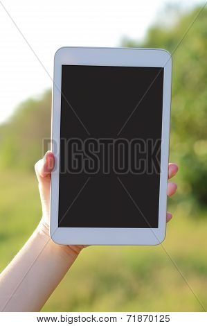 Digital Tablet Pc In Nature
