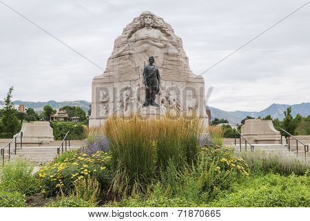 Mormon Battalion Monument in Salt Lake City, Utah