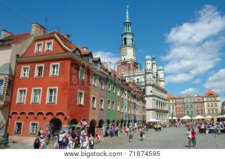 Buildings On Marketplace In Poznan