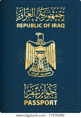 vector cover of Iraqi passport